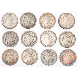 United States Morgan Silver Dollars, Lot of Twelve