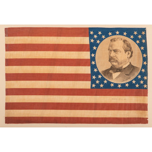 Cleveland & Hendricks, Pair of 1884 Campaign Flags