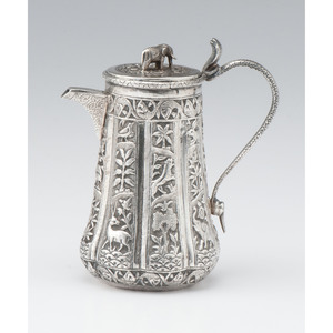 Indian Silver Coffee Pot