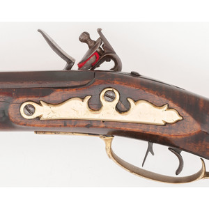 Flintlock Kentucky Rifle by LWP with Two Patchboxes