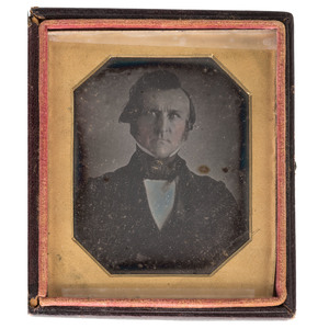 Sixth Plate Daguerreotype of Winfield Scott, Ca 1844, One of the Earliest Known Portraits of the Famed American General