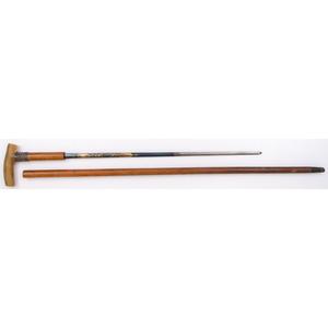 Sword Cane with Blue and Gilt Blade