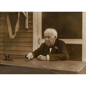 Thomas Edison on his 81st Birthday, Vintage Photograph