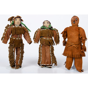 A Group of Plains Dolls, Deaccessioned From the Hopewell Museum, Hopewell, NJ