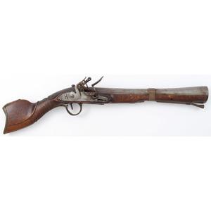 Middle Eastern Flintlock Saddle Pistol