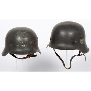 Lot Of Two German WW II Helmets