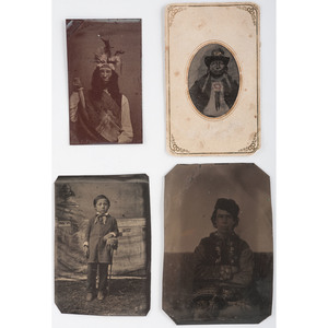 American Indian-Related Tintypes, Lot of 4