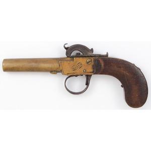 All Brass Single Shot Pill Lock Pistol