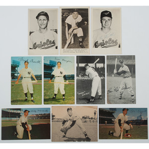 Ca 1950s Collection of Baseball Postcards Autographed by Prominent Players, Incl. New York Yankees, Boston Red Sox, and More