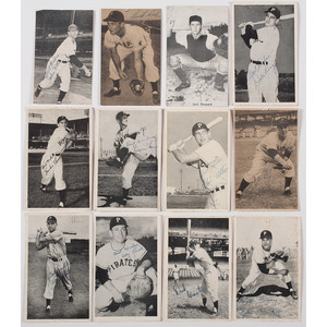 Ca 1950s Collection of Baseball Postcards Autographed by Prominent Players, Incl. Cincinnati Reds, Chicago Cubs, St. Louis Cardinals, Pittsburgh Pirates, & Milwaukee Braves