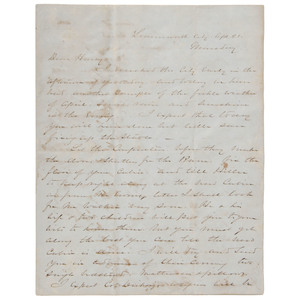 William T. Sherman, Pre-Civil War ALS from Leavenworth City, Kansas, 4 Pages to