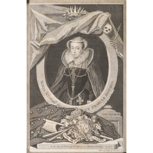 [Illustrated - History] George Vertue (British, 1684–1756), Mary Queen of Scotts Famous Portrait Engraving