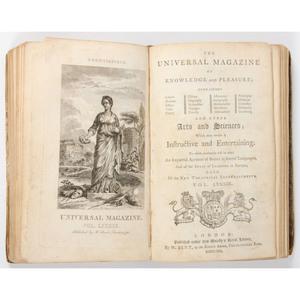 [18th Century Periodical] Three Bound Volumes of Universal Magazine (1789-1792) In Period Binding