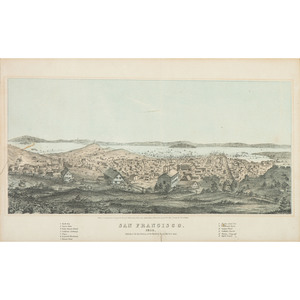 San Francisco 1854, Lithograph Published by Henry Bill, Plus