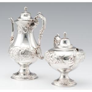 Thomas Fletcher Coin Silver Tea and Coffee Pot