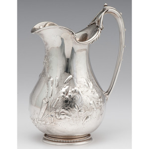 Gorham & Co. Coin Silver Water Pitcher