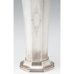 R. Wallace & Sons Sterling Trophy Vase for Quaker City Motor Club
