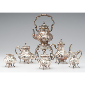 German .800 Silver Tea and Coffee Service
