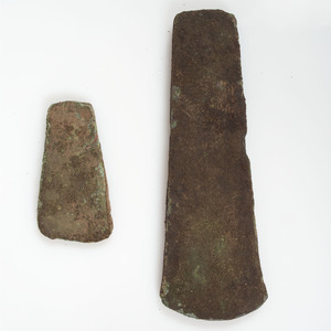 A Pair of Hopewell Copper Celts, From the Collection of Roger