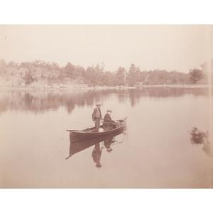 Chester Arthur Fishing, Rare Albumen Photograph by Brady
