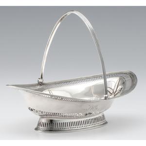 George III Sterling Bread Basket, William Plummer
