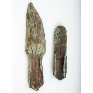 Old Copper Culture Socketed Spear Point and Gouge, From the Collection of Roger