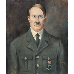 Oil on Canvas Painting of Adolf Hitler
