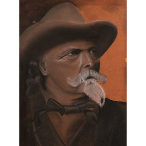 Buffalo Bill, Pastel Portrait Attributed to William H. Machen (Dutch/American, 1832-1911), Plus