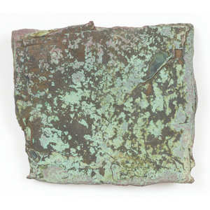 An Old Copper Culture Large Flat Worked Chunk of Copper,  From the Collection of Roger