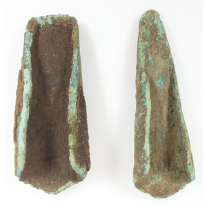 A Pair of Old Copper Culture Socketed Chisels,  From the Collection of Roger