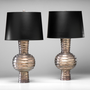 Maitland Smith Brutalist-style Lamps