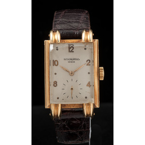 Patek, Philippe & Co. 18k Yellow Gold Wrist Watch Ca. 1940's