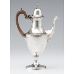 George III Sterling Coffee Pot, John Langlands & John Robertson