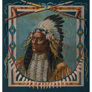 American Indian and Cowgirl Lithographs on Fabric, Plus