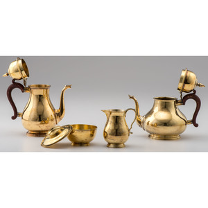 English Silver Gilt Tea and Coffee Service, William Comyns & Sons