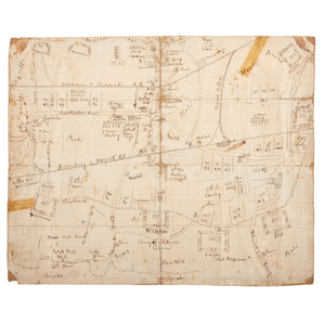 Civil War Hand-Drawn Map of the Siege of Suffolk, Virginia, Owned by Private William Gragg, 6th Massachusetts Infantry, With War-Date Correspondence