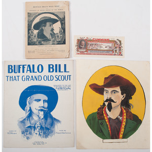 Buffalo Bill Cody and Wild West Show, Original Artwork, Program, Books, and More