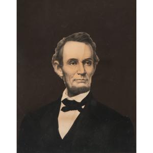 Abraham Lincoln Chromolithograph by Bingham & Dodd, 1865.