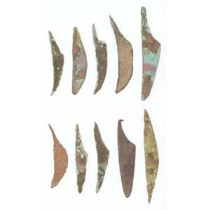 Old Copper Culture Knives, From the Collection of Roger