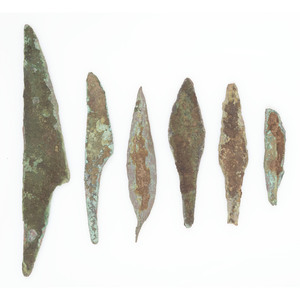 Old Copper Culture Knives and Spear Points, From the Collection of Roger