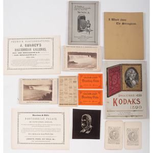 Fine Assortment of Photographic Advertisements and Catalogs, Many Featuring Cameras