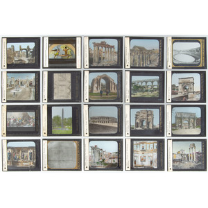 Magic Lantern Slide Collection Featuring Views of Egypt and the Roman Empire