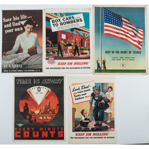 Occupational and Production-Related World War II Posters, Lot of 12