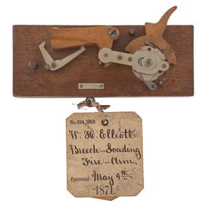 Patent Model W.H. Elliot Breech-Loading Firearm
