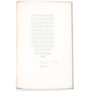[Literature - Illustrated - Signed] Llewelyn Powys & Lynd Ward,