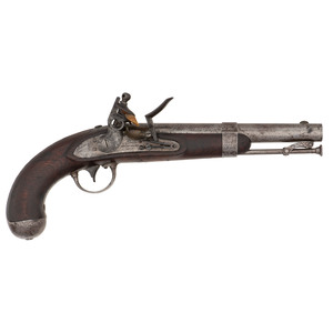 A. Waters Model 1836 Flintlock Pistol