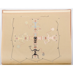 [Americana - Native Americana - Illustrated]  Signed Limited Edition of Sandpaintings of the Navajo Shooting Chant 1937 Signed Limited Edition