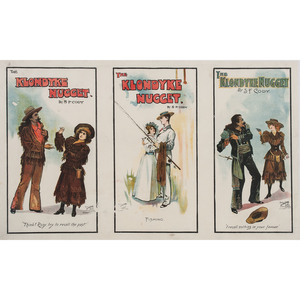 The Klondyke Nugget, Triptych Poster
