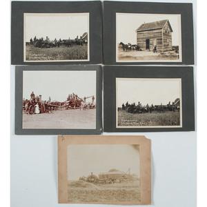 Threshing Outfits in Saskatchewan, Group of Five Photographs