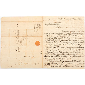 War of 1812 and Seminole War Veteran, Captain John Culbertson, Correspondence Incl. Zachary Taylor Letter Written from Fort Snelling, 1828